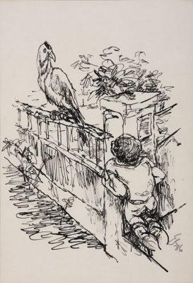 schaefer egmont 91 92 kind mit vogel